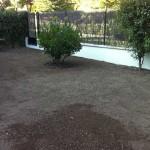 Después de preparar el terreno e instalar un nuevo sistema de riego lo dejamos listo para depositar el tepes.